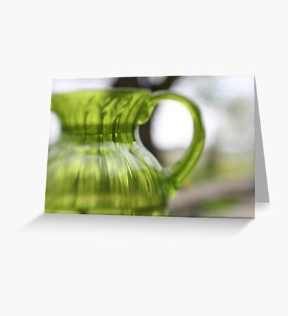 Little Green Jug Greeting Card