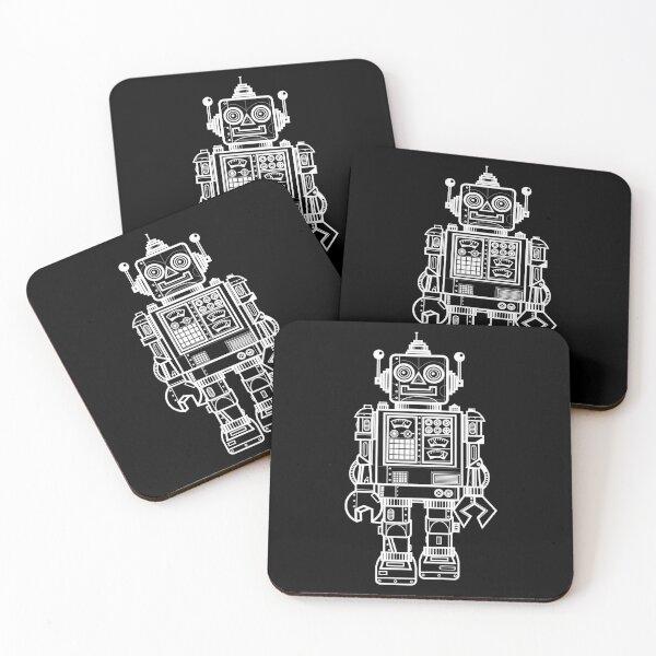 Vintage Toy Robot V2 Coasters (Set of 4)