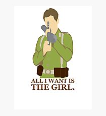 """Indiana Jones - """"All I Want is the Girl"""" Photographic Print"""