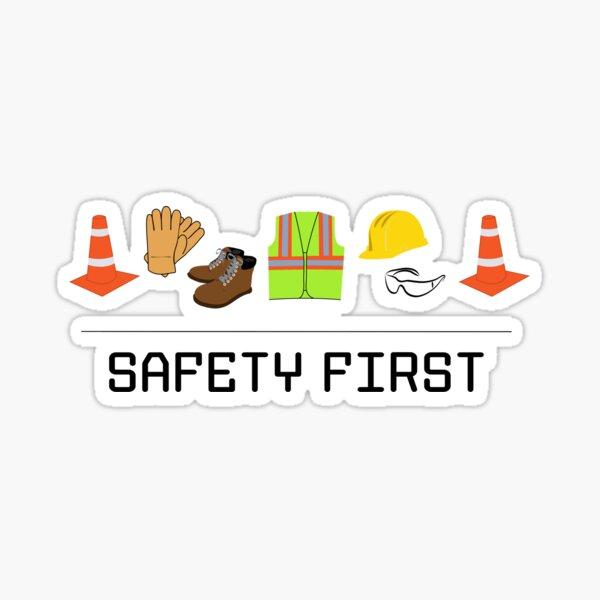 Safety First Rectangular Sticker