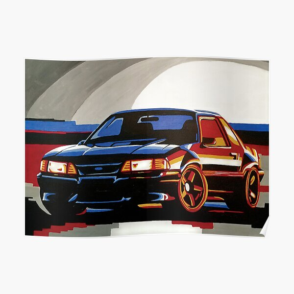 Fox Body Ford Mustang Painting Poster