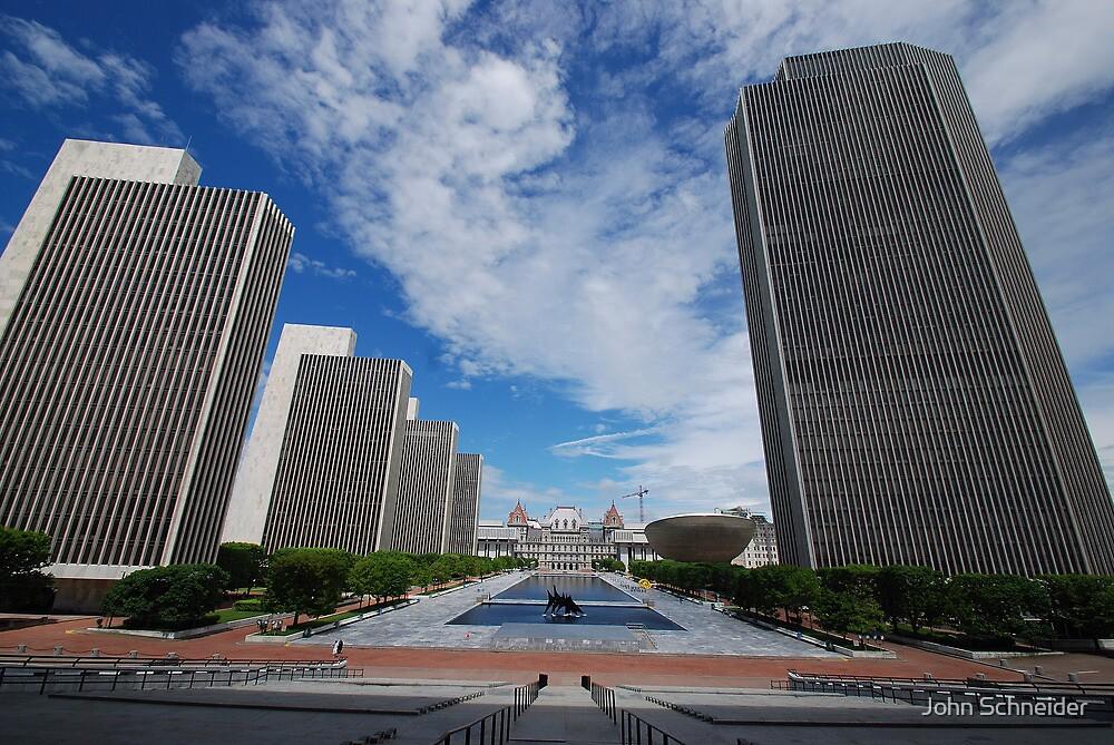 Empire State Plaza by John Schneider