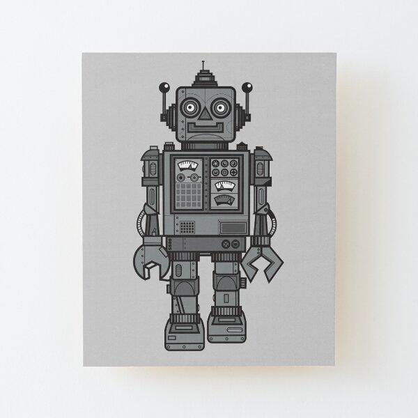 Vintage Robot Wood Mounted Print