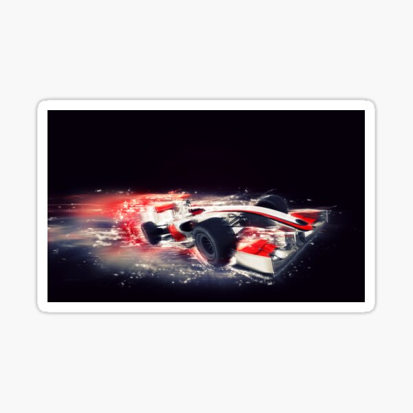 F1 Formula 1 car with special speed effect Sticker