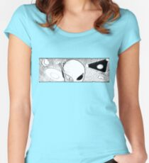 Aliens & UFOs, Oh My! Fitted Scoop T-Shirt