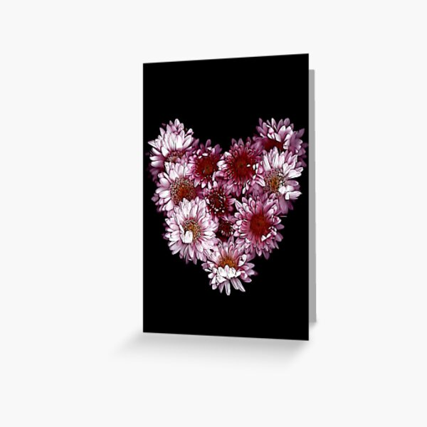 """""""Crysanthemums With Love"""" Greeting Card"""