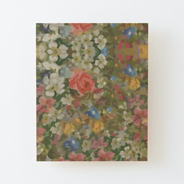 Pretty. Odd. Flowers Painting Wood Mounted Print