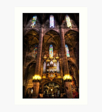 Palma Cathedral Pipe Organ Art Print