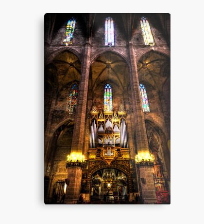 Palma Cathedral Pipe Organ Metal Print