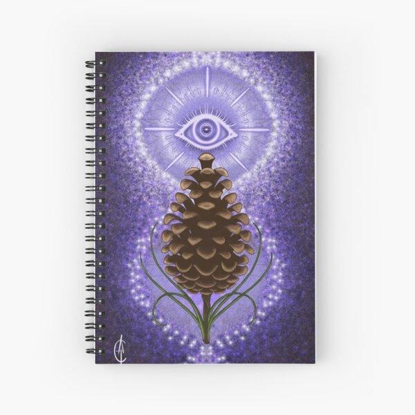 Third Eye PineCone Spiral Notebook