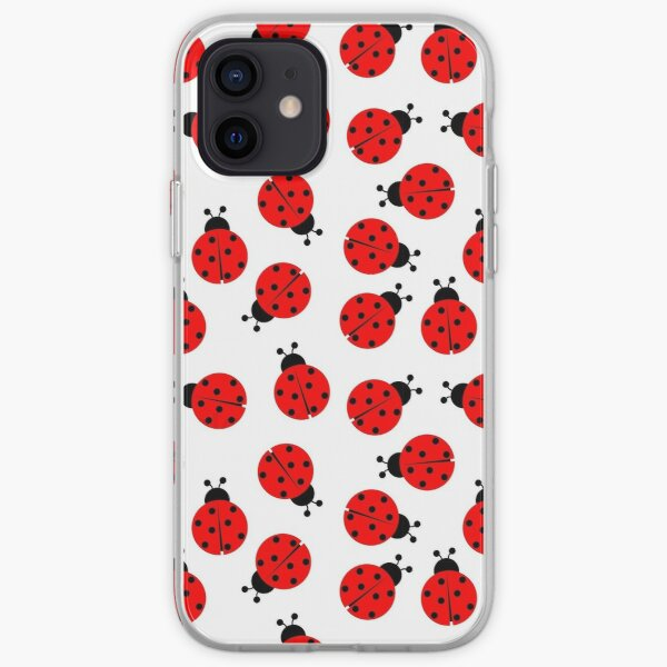 Lady Bug Pattern iPhone Soft Case