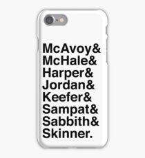 The Newsroom - Last Names (Black text) iPhone Case/Skin