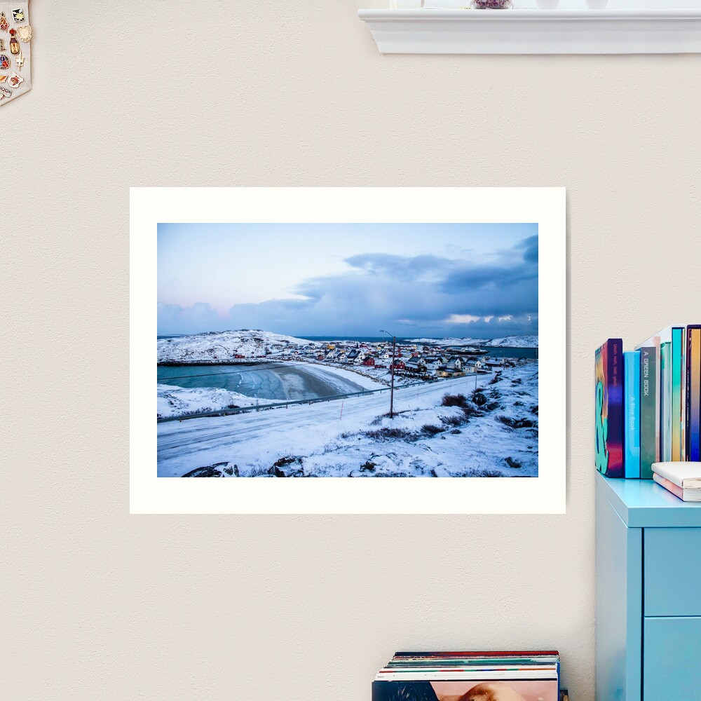 Bugøynes, Norway - Small fishing town at the arctic sea Art Print