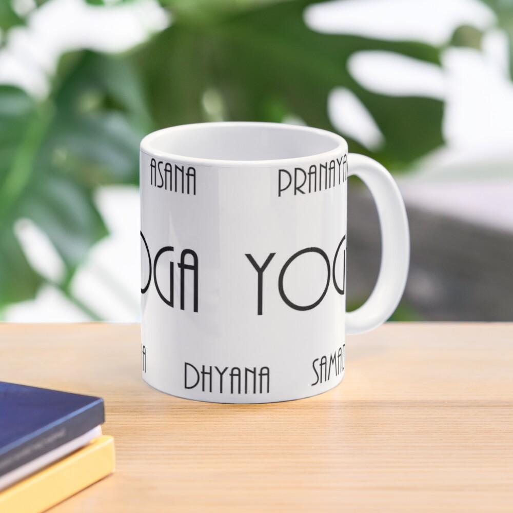 8 Limbs Of Yoga Mug Yama Niyama Asana Pranayama Pratyahara Dharana Dhyana Samadhi Mug By Bdogcreations Redbubble