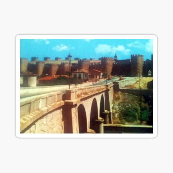 The wall of Avila from the bridge Sticker