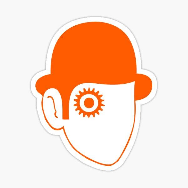 Un autocollant Orange mécanique Sticker