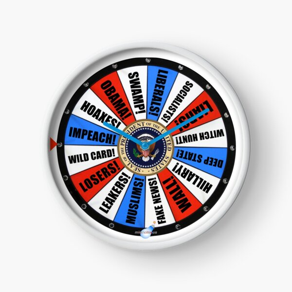 USA Wheel of Chance Clock