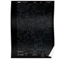 USGS Topo Map Oregon Rail Creek Butte 20110812 TM Inverted Poster