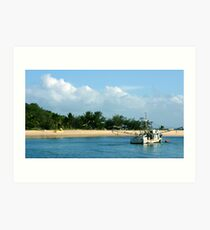 Cape York remote Island. Prawn boat under anchor Art Print