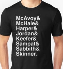 The Newsroom - Last Names (White text) T-Shirt