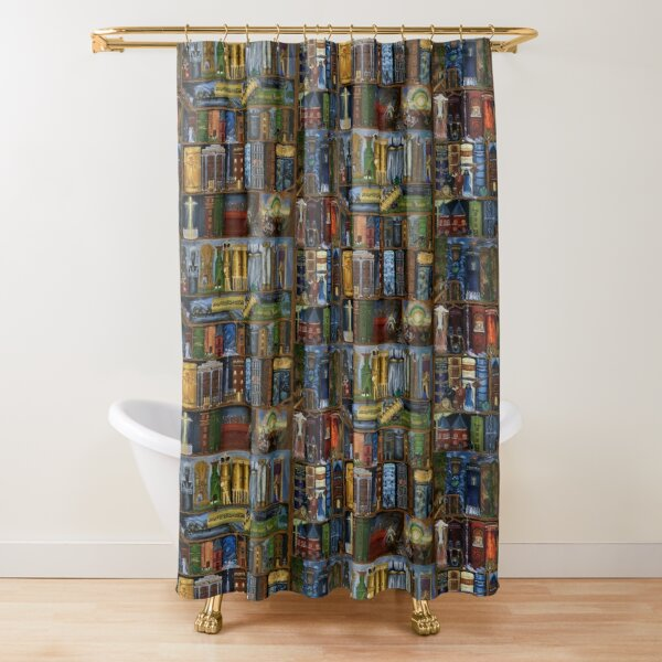 Books of the Bible Shower Curtain