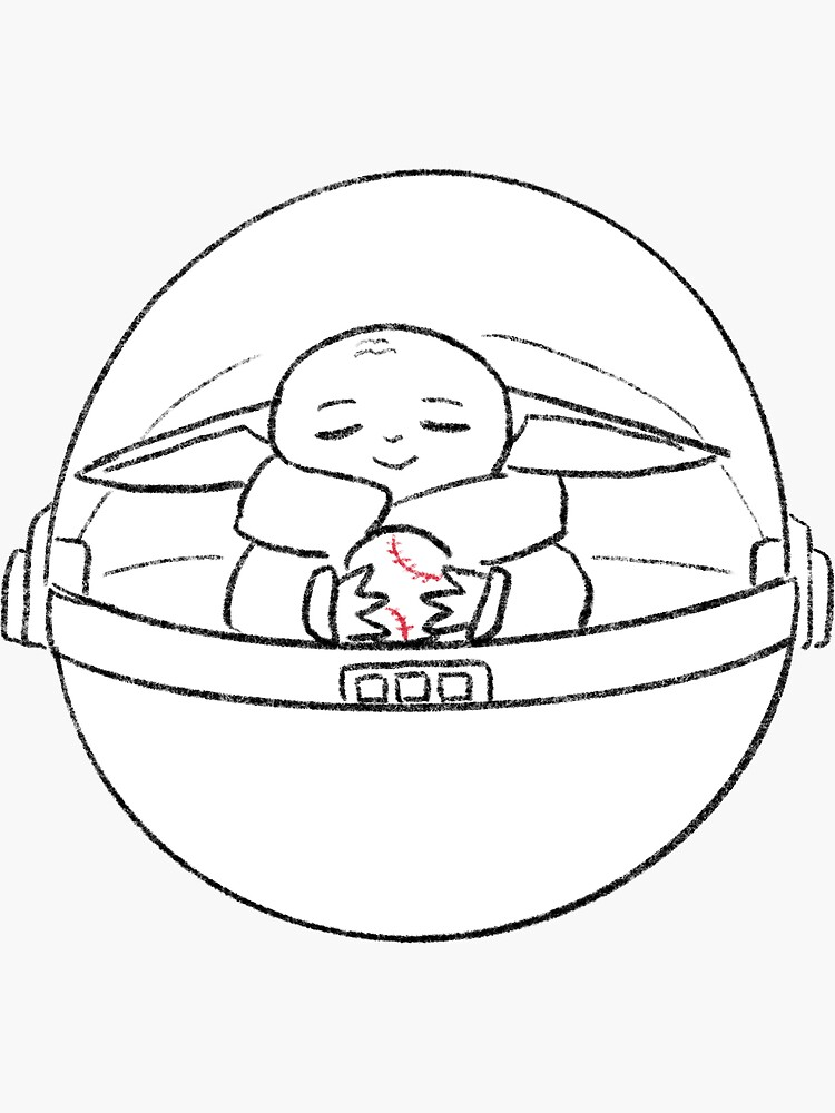 small extraterrestrial child of space wars holding sportsball by drawawalk