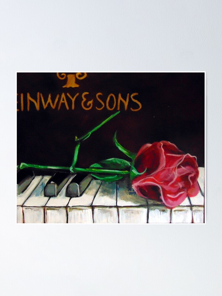 Alternate view of Steinway-Rose Poster