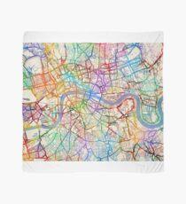 London England Street Map Scarf