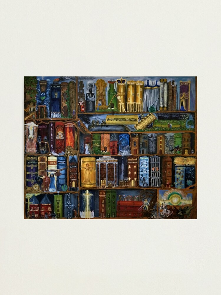 Alternate view of Books of the Bible - Wall Art Photographic Print