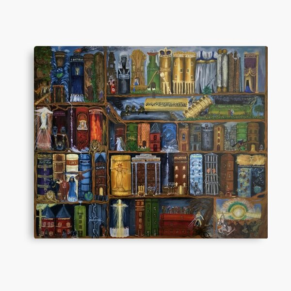 Books of the Bible - Wall Art Metal Print