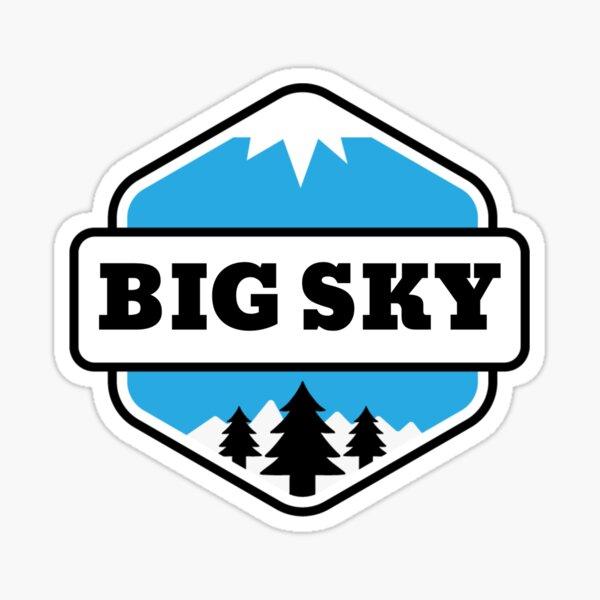 Big Sky, Montana, Bozeman Mountain and Ski Sticker