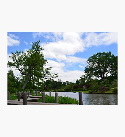 Wooden dock by the Japanese Garden Photographic Print