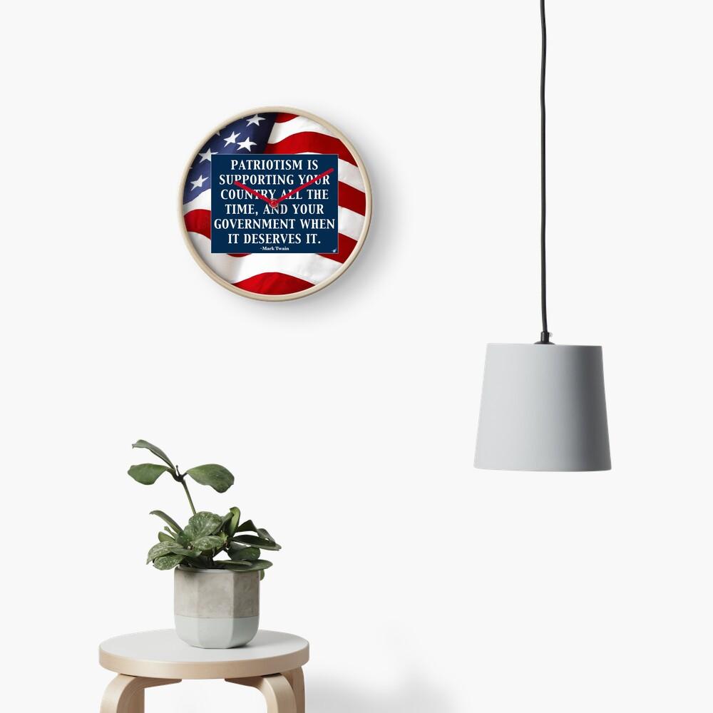 True Patriotism Clock