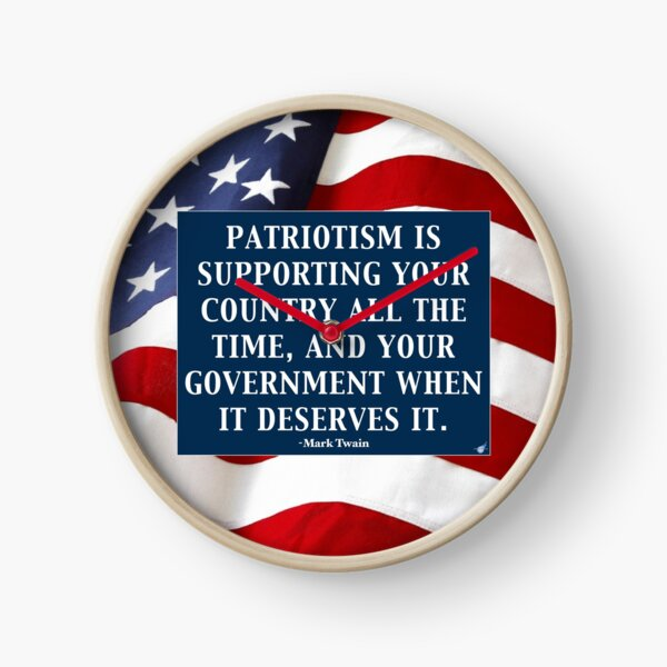 True Patriotism Clock