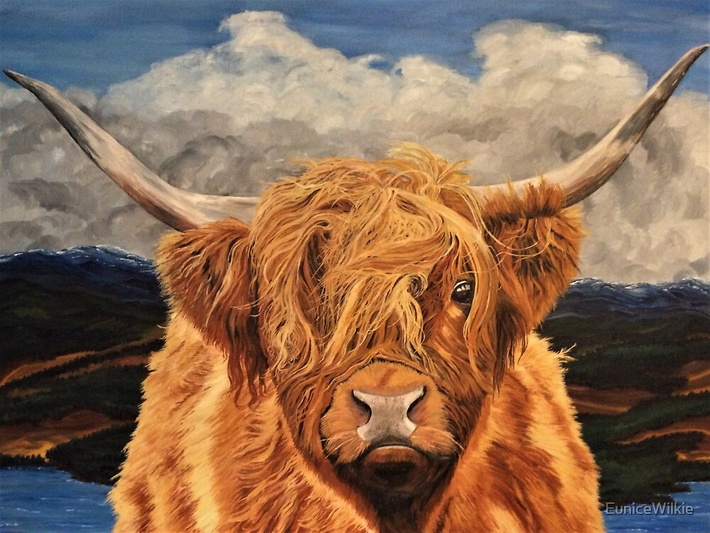 Highland Cow - Coasters & Blocks by EuniceWilkie