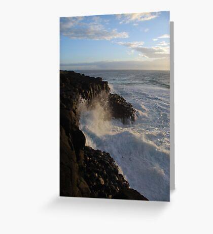 The Tumultuous Sea Greeting Card