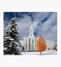 Mt. Timpanogos Temple After the Storm 20x24 Photographic Print