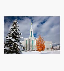 Mt. Timpanogos Temple After the Storm 20x30 Photographic Print