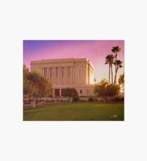 Mesa Arizona Temple Desert Sunset 20x24 Art Board