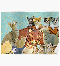 Cute Cat collage 2 Poster