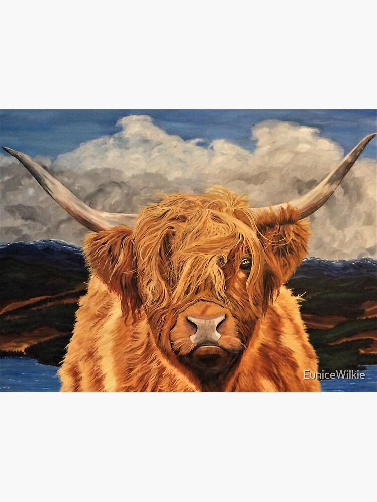 Highland Cow - Wall Art by EuniceWilkie