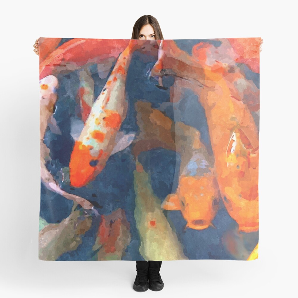 School of Koi Scarf