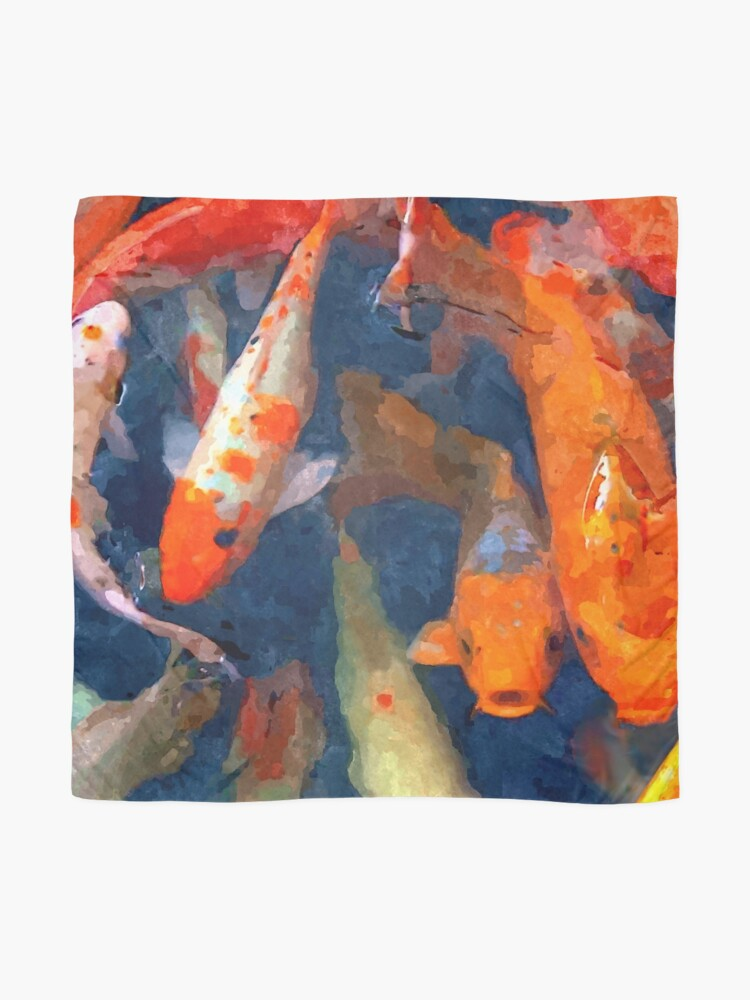 Alternate view of School of Koi Scarf