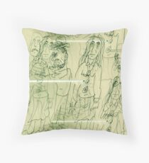 All The Lonely People: Eleanor Rigby Throw Pillow