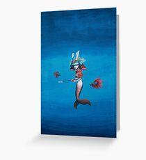 Samurai Mermaid Greeting Card