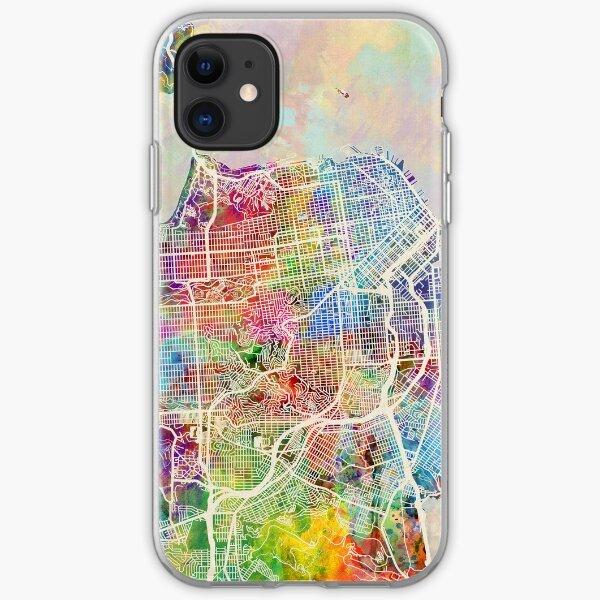 San Francisco Stadtplan iPhone Flexible Hülle