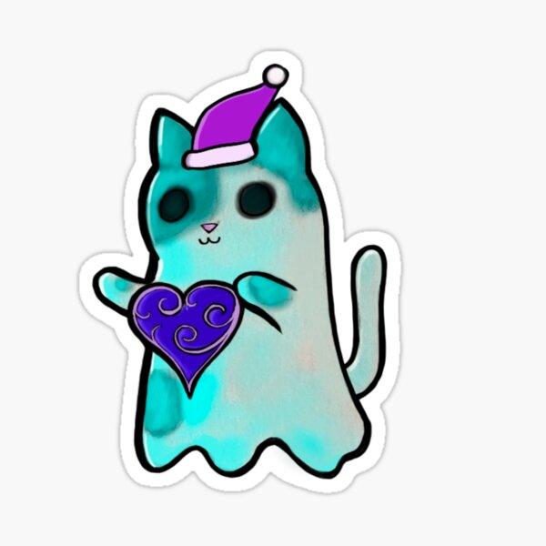 Santa Ghost Kitty Sticker
