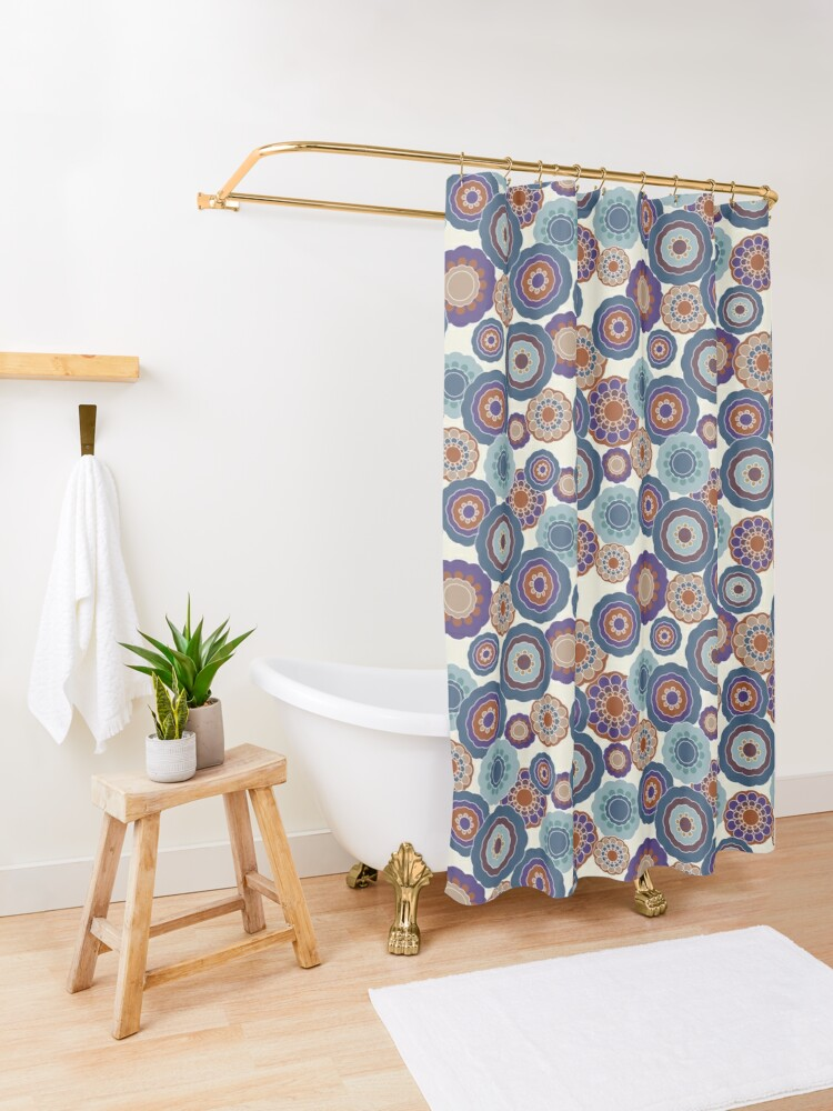 Alternate view of 70s Floral V2 Shower Curtain