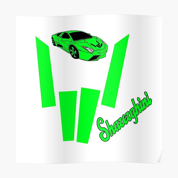sharerghini, sharerghini merch,sharerghini Green, Sharerghini Hoodie, sharerghini t shirt, Sharer car, share,   Poster
