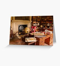 Canons Ashby House The Book Room Greeting Card